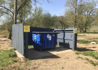 Rebuilt Garbage Area
